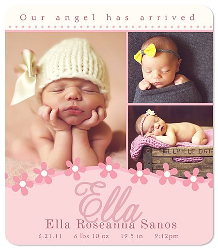 MAGNET Baby Girl Birth Announcement