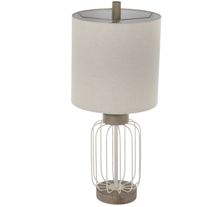 White Wire Cage Metal Lamp Hobby Lobby 1915446 Metal Lamp Lamp Metal Wire