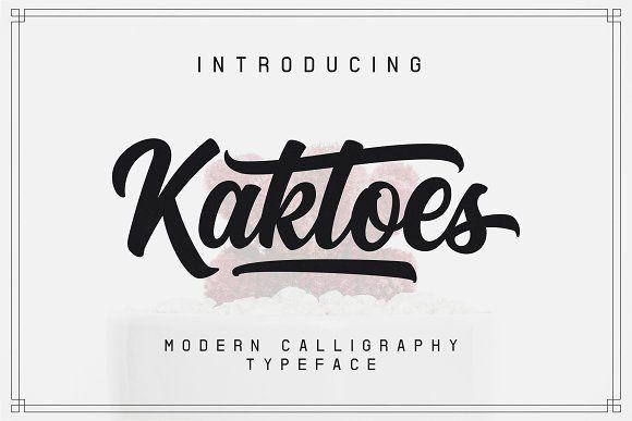 Kaktoes Script Font(20%OFF) by Letterme Co on @creativemarket
