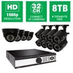 Q-SEE 32-Channel 1080p 8TB Video Surveillance System with (4) Dome Cameras and (8) Bullet Cameras