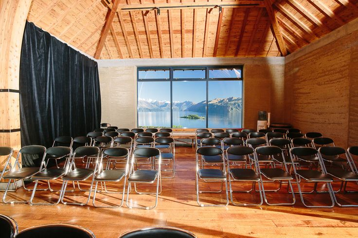 The Rippon Hall set up for a conference presentation
