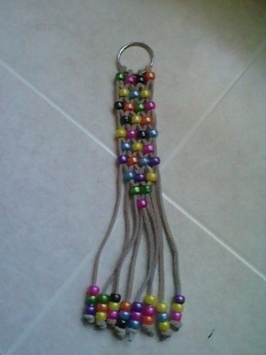 Craft a beaded key chain for any gift occasion for kids for Bead craft ideas for kids
