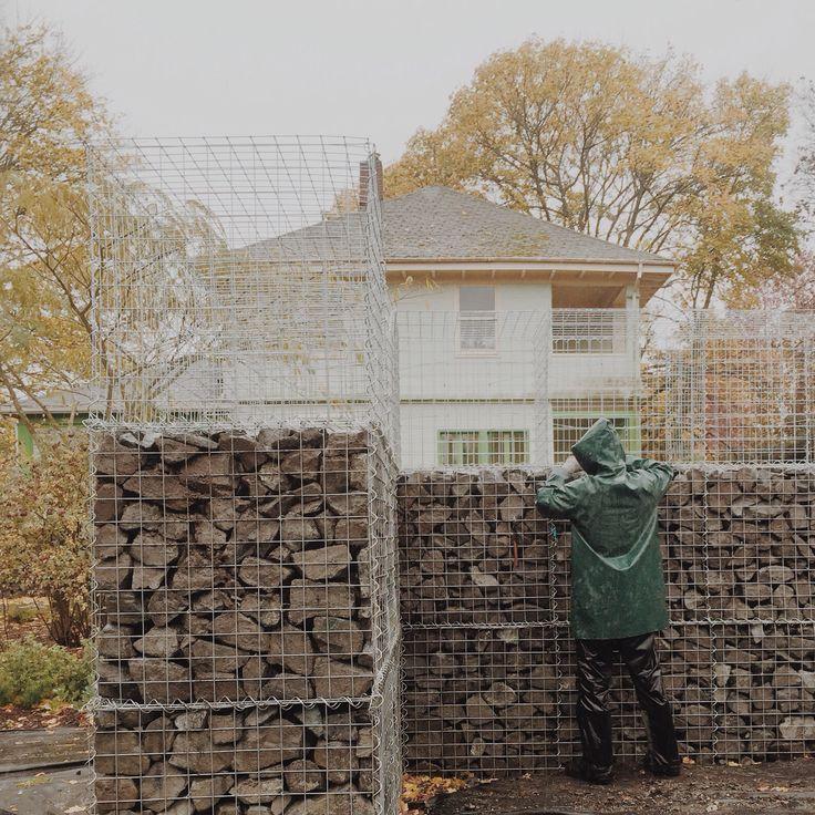 Building gabions at Dig Nursery.