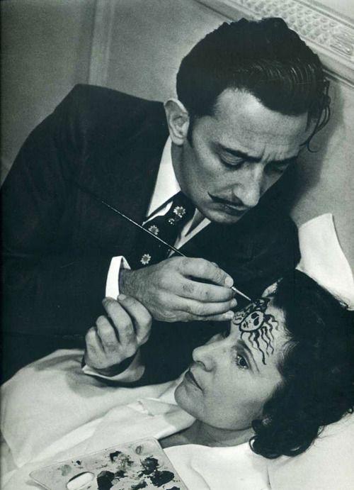 Salvador Dali painting on Gala Dali - both boys loved his strange paintings!!!