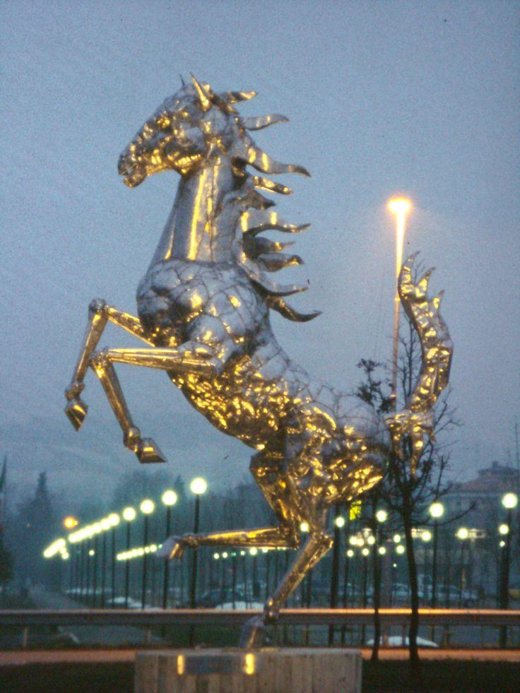 """The Prancing Horse"" - Ferrari Headquarters - Maranello, Italy   The artist Helidon Xhixha"