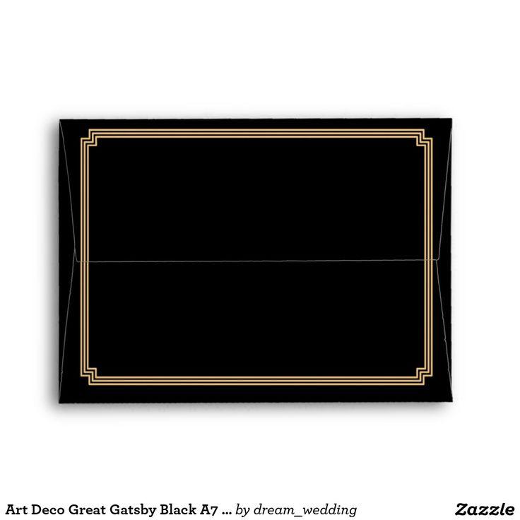 Art Deco Great Gatsby Black A7 Wedding Envelopes