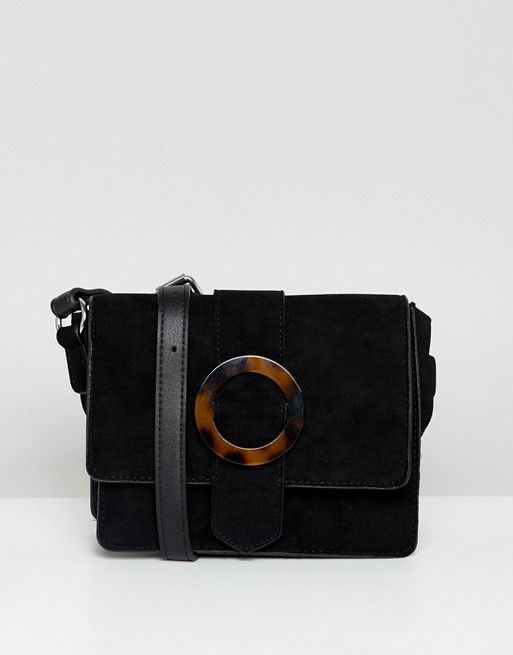 7931fb0cc87 New Look tortoise shell buckle cross body bag in black in 2018 ...