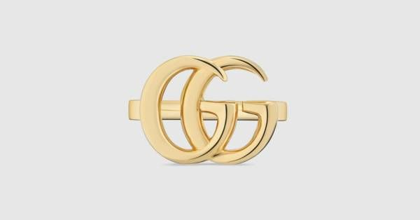 43ca74f6fc3 Gucci GG Running yellow gold ring