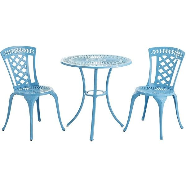 Pier 1 Imports Neely Peacock Bistro Set (u20ac83) ❤ Liked On Polyvore Featuring  Home, Outdoors, Patio Furniture, Blue, Garden Furniture, Blue Outdoor  Furniture ...