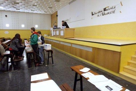 (Photo d'archive) A l'université de Nanterre, en 2007, lors des mouvements étudiants contre les projets de Sarkozy.