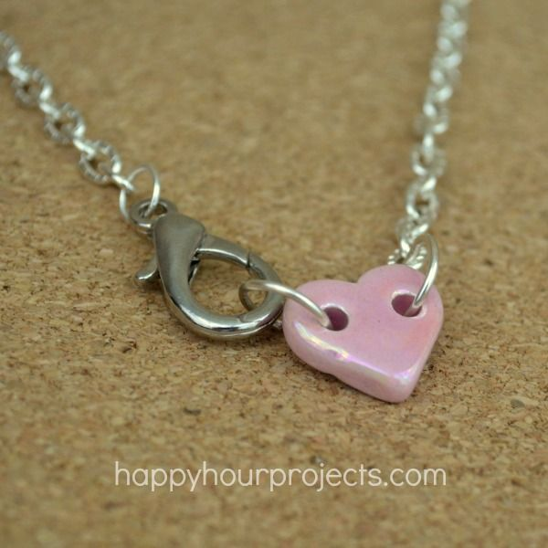 Simple short necklace by Adrianne of Happy Hour Projects