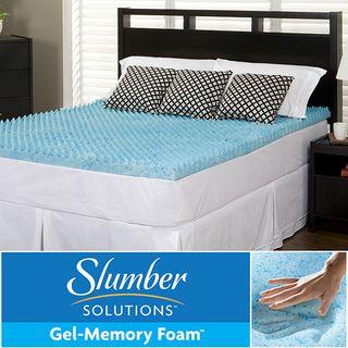 slumber solutions gel highloft 3inch memory foam mattress topper - Slumber Solutions