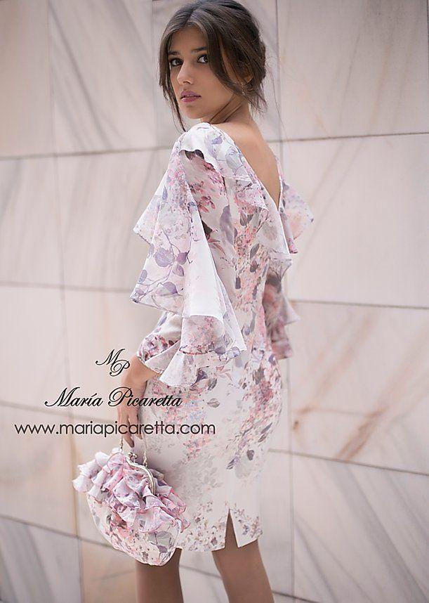 Cóctel Maria Picaretta Spain En 2020 Vestidos De Fiesta Vestidos De Mujer Vestidos Blancos De Gala