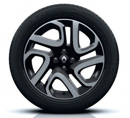 "Renault Captur 17"" Alloy Wheel, Black Diamond-Effect (x1) - 403008697R"