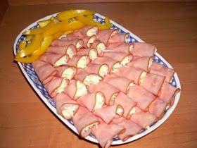 Шустрый повар.: Рулетики из ветчины с сыром и чесноком