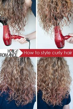 How to style your curly hair----- I have been styling my hair like this and it works really good!
