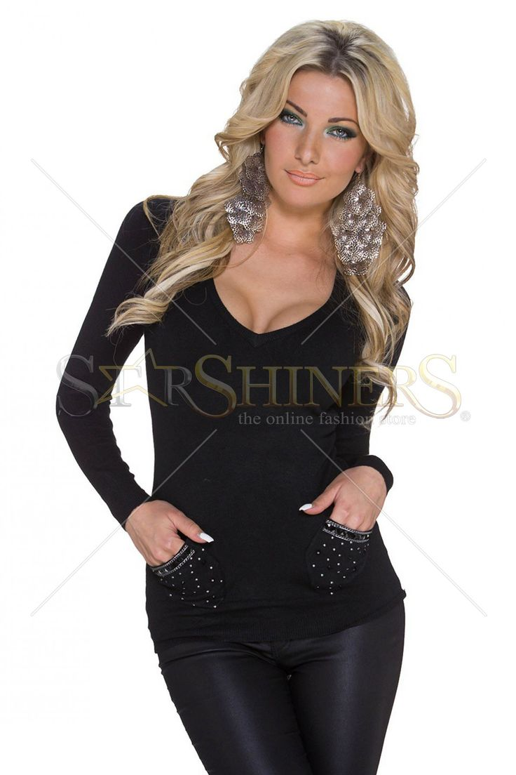 Provocative Trend Black Sweater