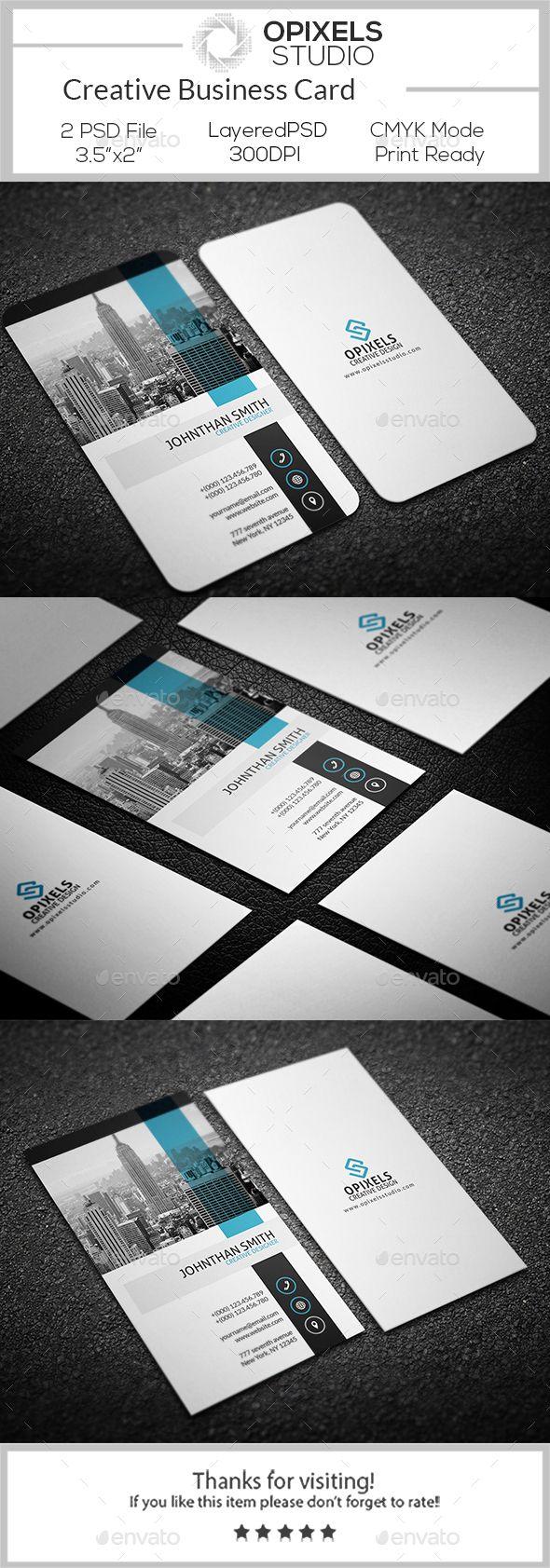 Creative Business Card Template PSD