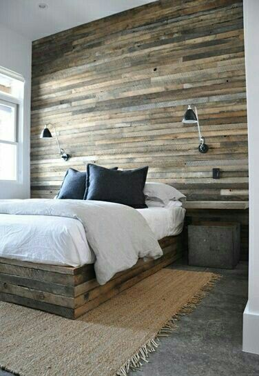 Versleten hout behang