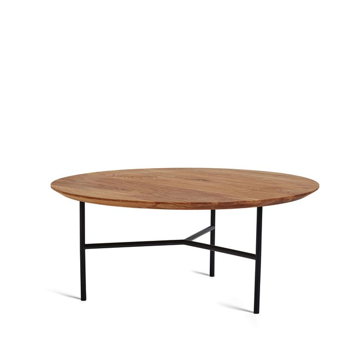 Tribeca soffbord - Tribeca soffbord - ek olja, svarta ben, toppskiva 80 ø  cm