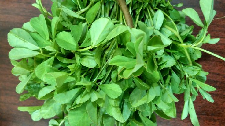 Fresh fenugreek leaves are an ingredient in some Indian curries
