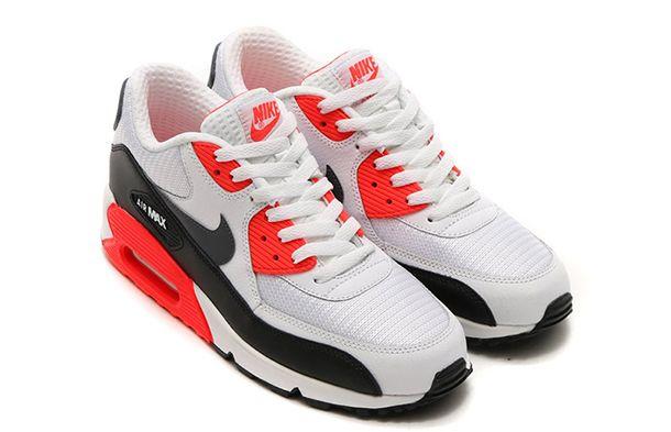 """Nike Air Max 90 """"White/Bright Crimson""""  """