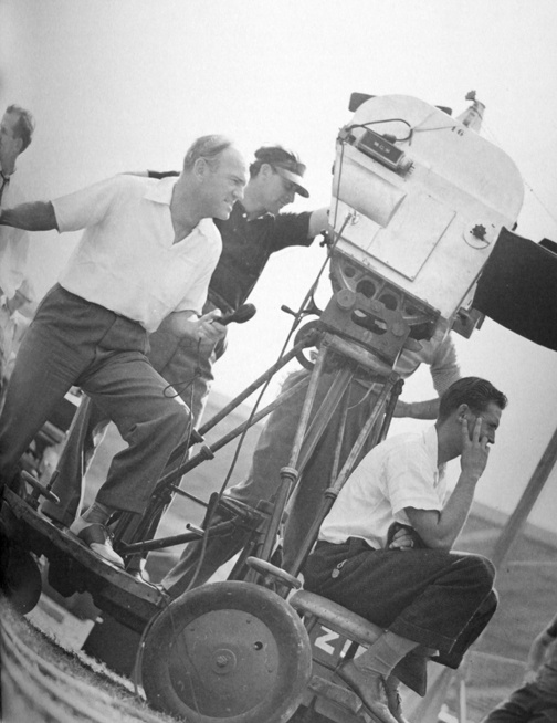 Victor Fleming directing Gone With the Wind.