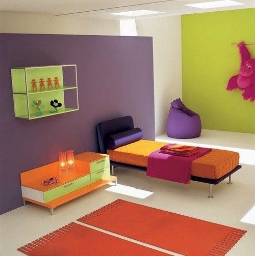 Colorare le pareti della cameretta dei bambini - Cameretta Multicolore