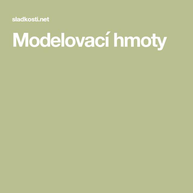 Modelovací hmoty
