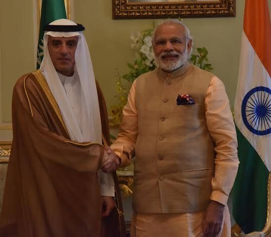 PM #NarendraModi meeting with HE Adel Al Jubeir Saudi Minister of Foreign Affairs