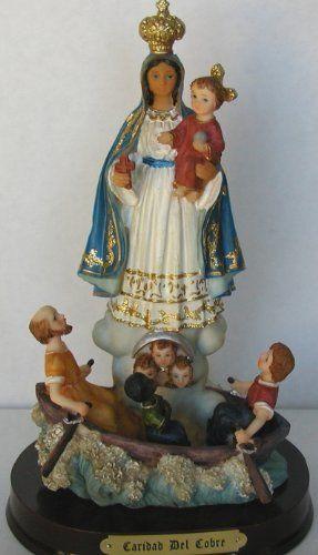 """Ochun statue for the goddess of love, beauty, money and marriage. 8"""" Saint Statues/Santeria Yoruba Cubana/Statue Our Lady Of Charity 8""""/Estatua Virgen De La Caridada Del Cobre 8"""" (Virgen De La Caridad Del Cobre 8"""") #oshun #lucumi $19.99"""