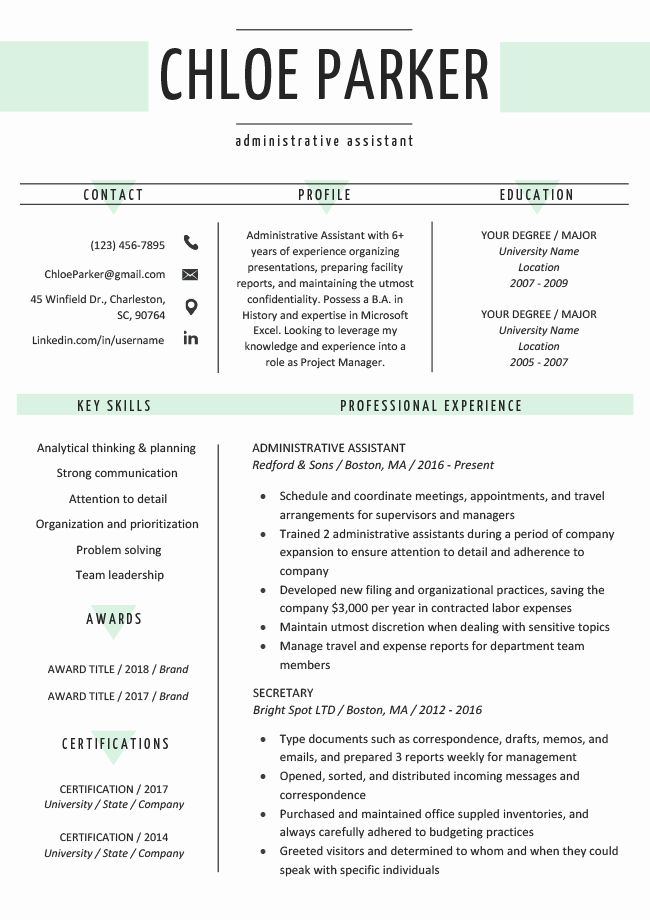 25 college resume template download in 2020