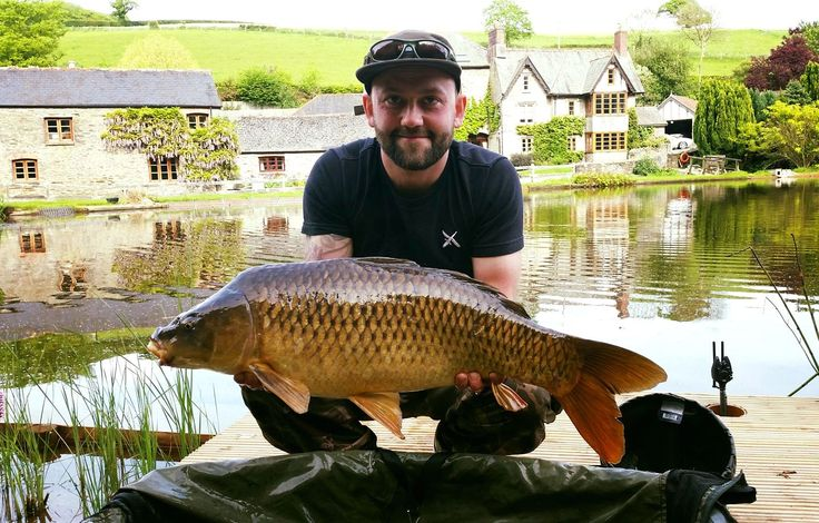 Tom with 16lb 2oz common carp @ Malston Mill Farm lake