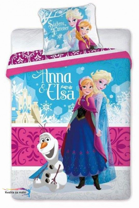 Obliečky Ľadové Kráľovstvo Anna a Elsa 140/200