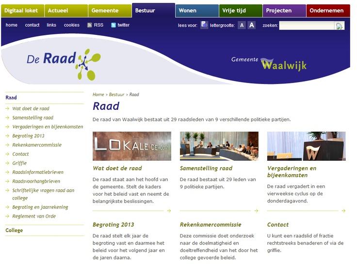 Gemeenteraad Waalwijk: www.waalwijk.nl