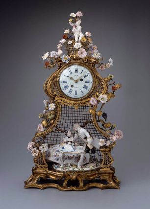Mid-18th century German/French Clock at the Museum of Fine Arts, Boston