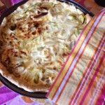 Torta pasta brisee porri e patate.