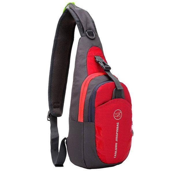 Casual Outdoor Chest Bag Running Sport Nylon Crossbody Bag For Women Men