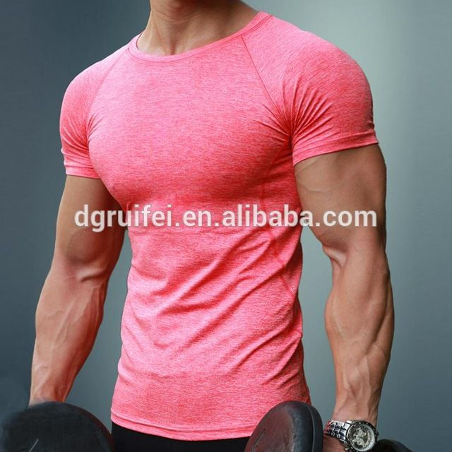 Men/'s Fitness Training Basic Tee Athletic Solid Tops Workout Gym Sports T Shirt