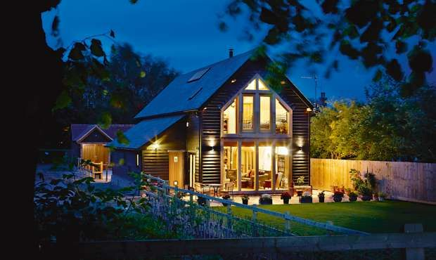 Traditional and modern love the combination. A Barn-style Village Home | Homebuilding & Renovating