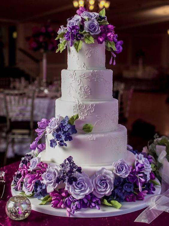 Image result for ultraviolet wedding cake