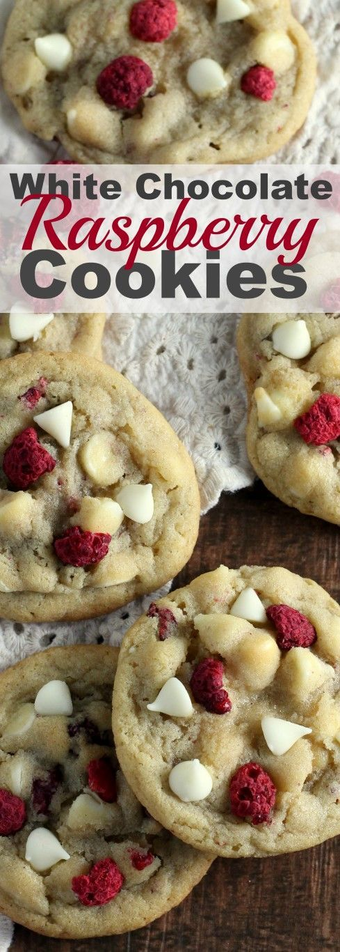 White Chocolate Raspberry Cookies - Some of the best Christmas Cookie recipes on the internet. Everything from decorated sugar cookies to easy Christmas cookie recipes that are perfect for parties and cookie exchanges.