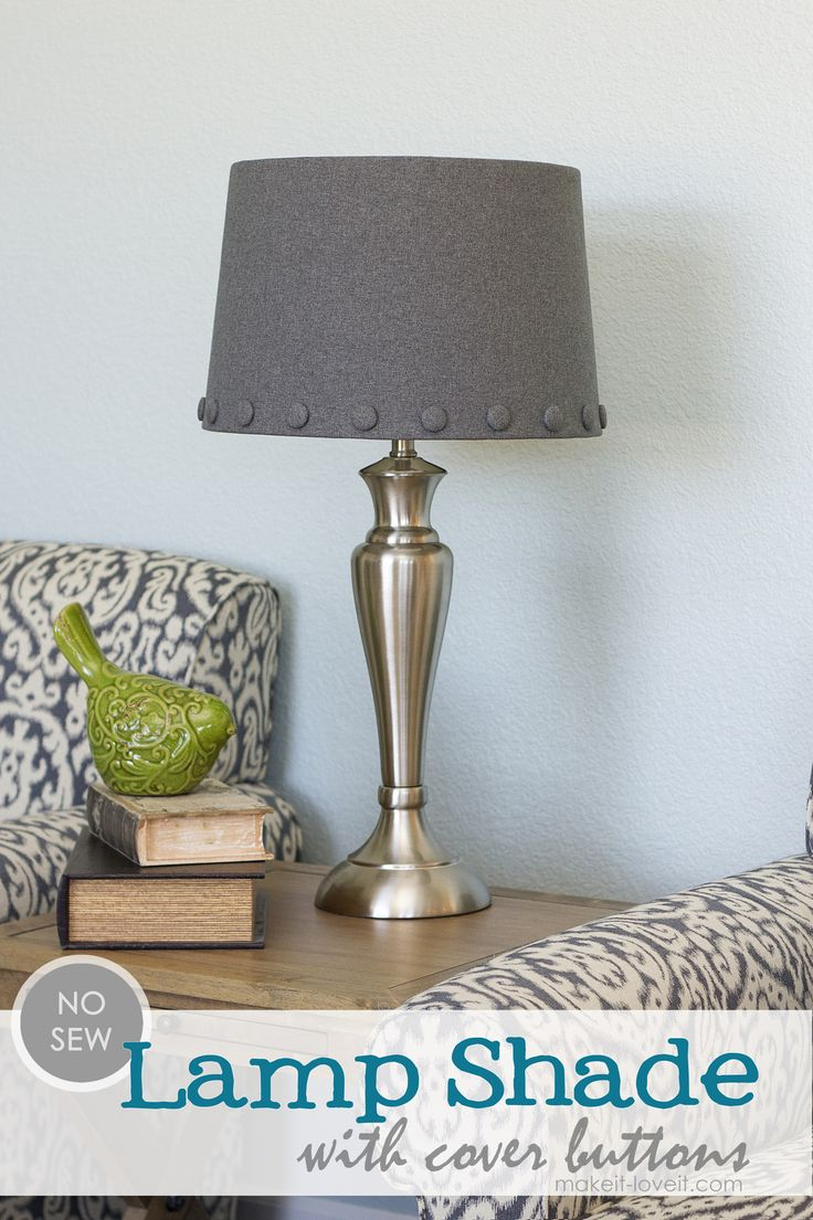 DIY two-toned lampshades
