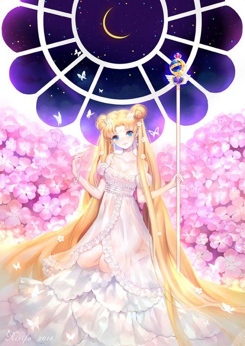 Imagen de sailor moon, usagi tsukino, and princess serenity