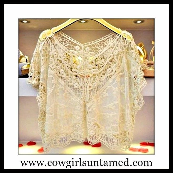 SOLD Super Cute Crochet Lace Top / Coverup on CLEARANCE! #lace #top #coverup #crochet #clothing #sale #clearance #discounted #Ebay #save #deal #boutique #fashion #beautiful