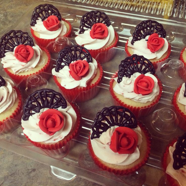 Flamenco cupcakes                                                                                                                                                                                 More