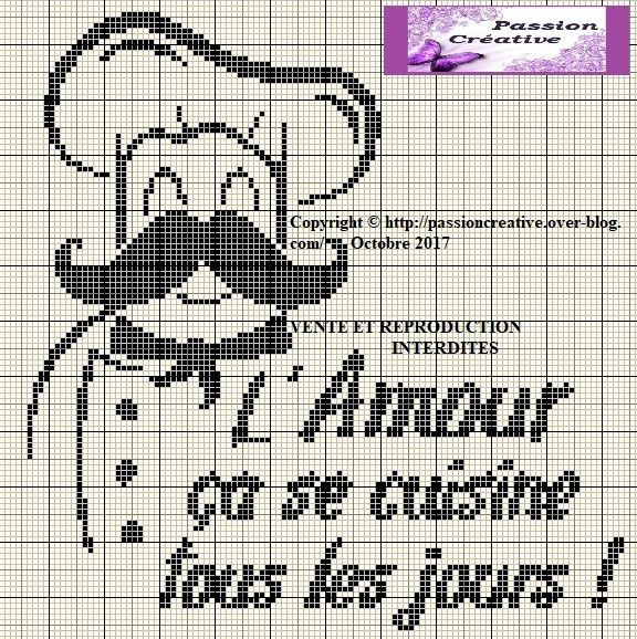 9778 best broderie images on pinterest embroidery cross stitch patterns and cross stitch charts - Point de croix cuisine ...