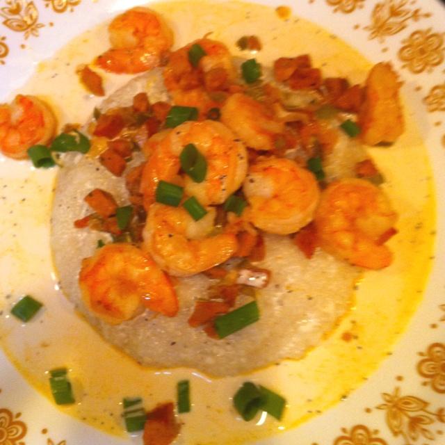 Shrimp And Andouille Grits Recipe — Dishmaps