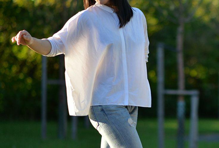 Crispy white shirt from COS.