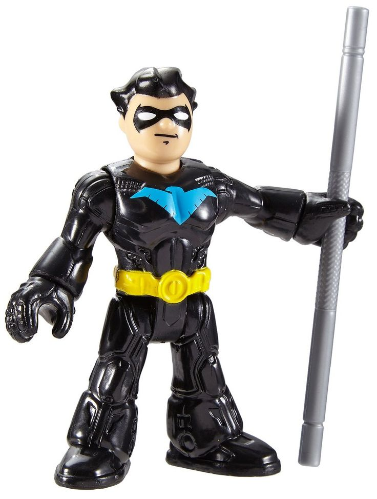 Fisher-Price Imaginext DC Super Friends Nightwing Action Figure. Every little crime fighter needs these DC Super Friends Super Hero and Super-Villain figures to help them recreate their favorite comic book adventures - or imagine new ones of their own. The more Imaginext DC Super Friends foil pack figures kids collect, the more heroic adventures they can create! (Each sold separately and subject to availability). Foiled again! Assortment of Super Heroes and Super-Villain figures in foil...